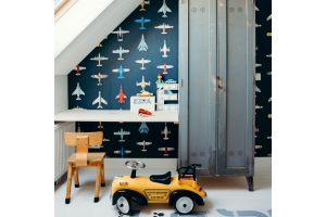 Colour advice for airplanes wallpaper