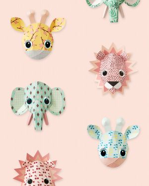 Wild animals wallpaper pink