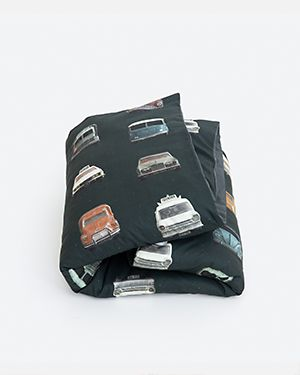 Cars duvet cover dark 140 x 200 cm