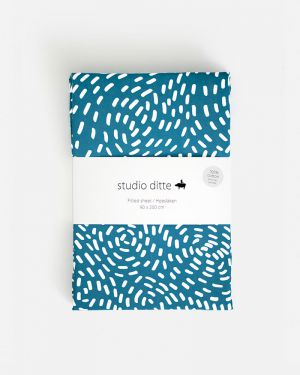 Fitted sheet flow - blue