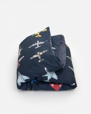 Airplanes duvet cover dark 140 x 200 cm