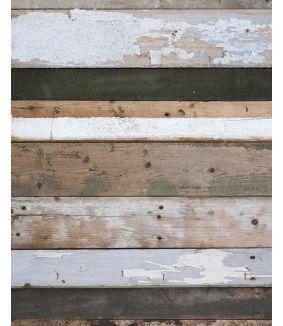 Scrapwood wallpaper black-white