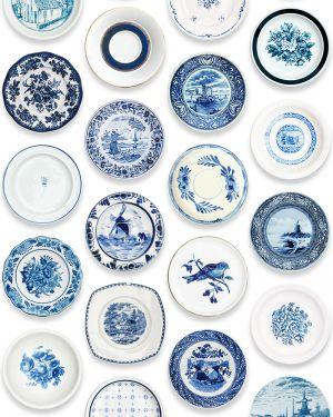 Porcelain wallpaper blue