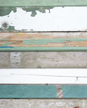 Scrapwood wallpaper green