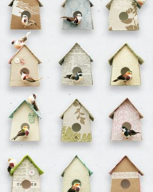 Birdhouse wallpaper