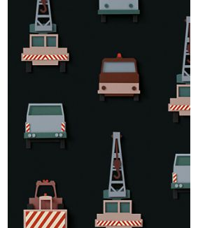 Crane truck wallpaper dark