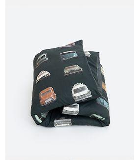 Cars duvet cover dark 140 x 200 cm