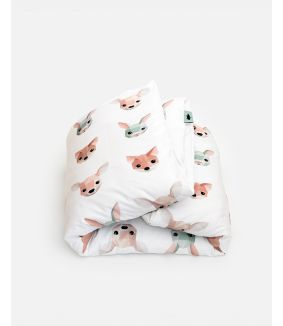 Forest animals duvet cover 140 x 200 cm