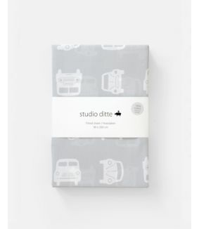 Fitted sheet cars light grey 90 x 200 cm