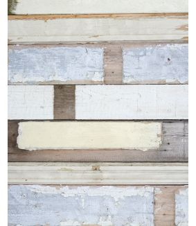 Scrapwood wallpaper white