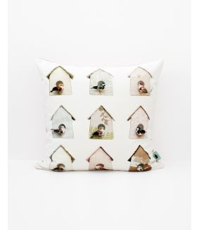 Birdhouse cushion cover