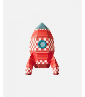 Rocket wall sticker cubes - large