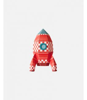 Rocket wall sticker cubes - small