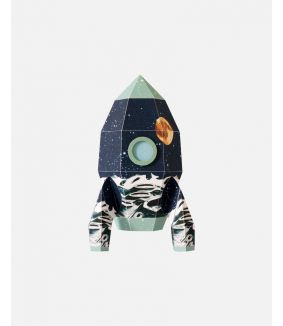 Rocket wall sticker moon - large