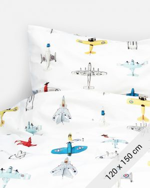 Airplanes duvet cover 120 x 150 cm