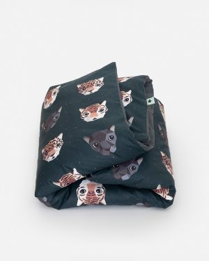Panthera duvet cover dark 120 x 150 cm