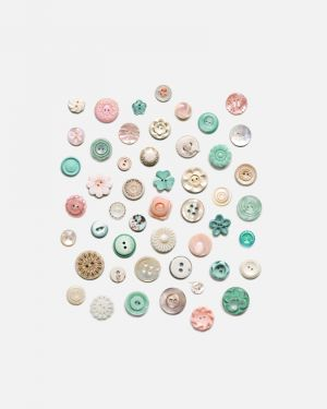 Button wall stickers