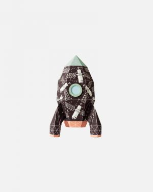 Rocket wall sticker satellites - small