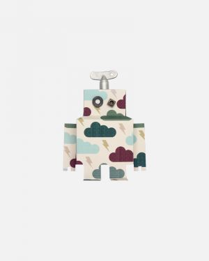 Robot wall sticker thundercloud - small