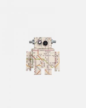 Robot wall sticker subway map - small