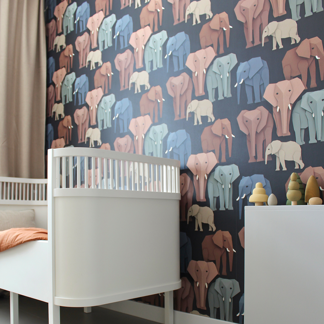 Otis' nursery with elephants